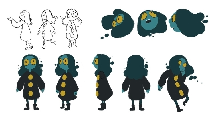 character design - animation, characterdesign - vinancent | ello