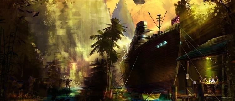 WW2 Safe Harbor? Tim Hansz - conceptart - indicator | ello