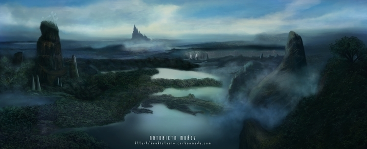 Mystic Land - illustration, environment - kuukistudio | ello