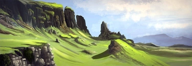 Scotland - illustration, painting - box010 | ello