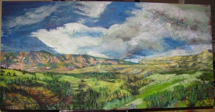 Yellowstone 001 - landscapes, drawing - kennethshearer-1623 | ello