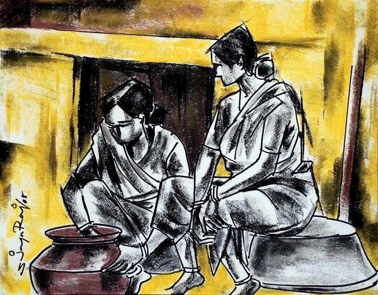 Ruralfolk - painting, drawing, faces - sjayaraj999   ello