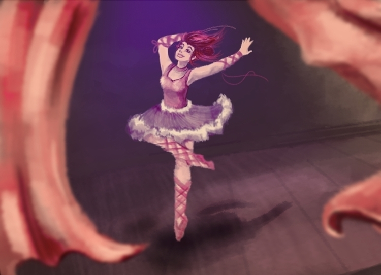 ballet, painting - amandaloyolla | ello