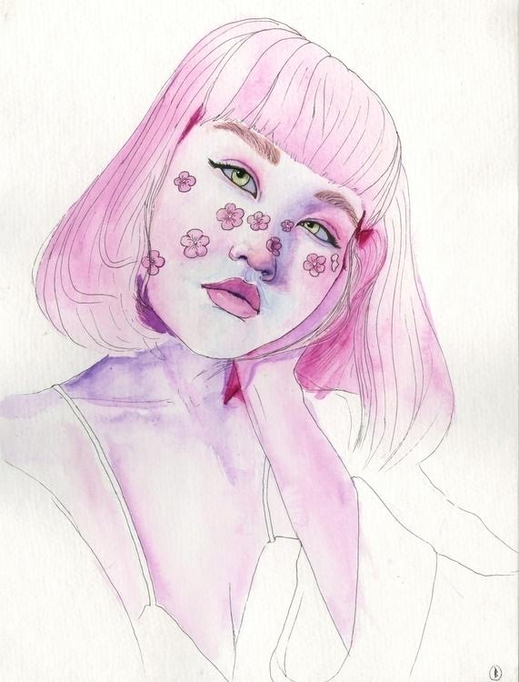 Bloom. Gouache ink watercolour  - narum | ello