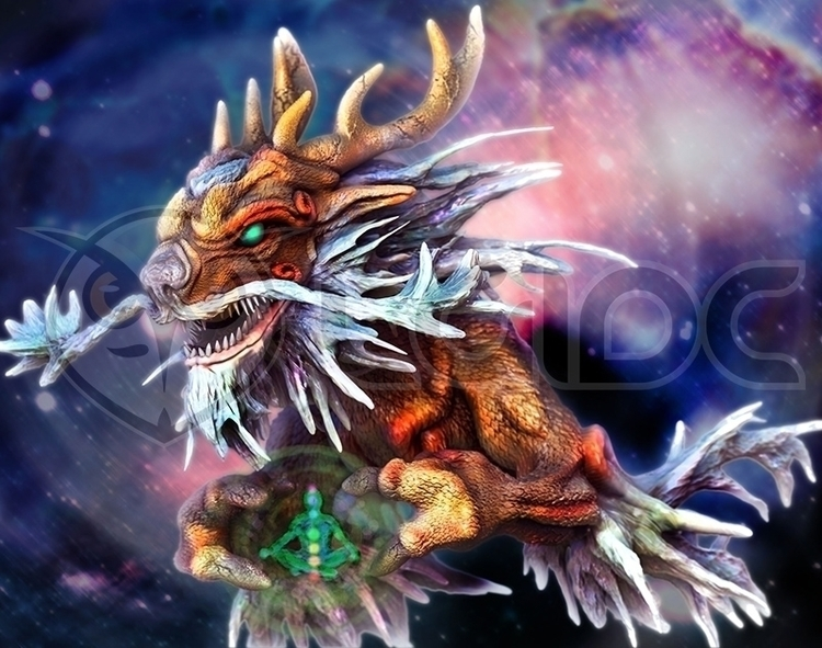 Earth Dragon Tienlong - illustration - lgidc | ello