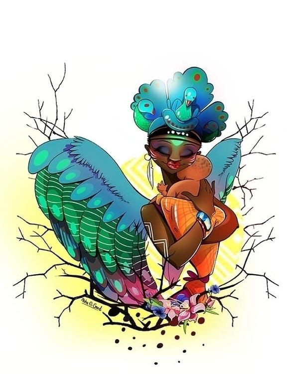 Demon, Woman Bird participation - noha-el-gendi | ello