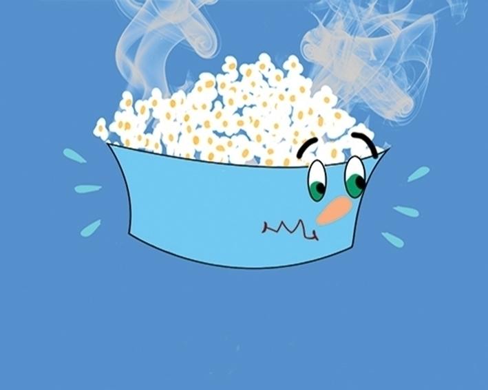 hot popcorn - illustration, animation - hendabdelghaffar | ello