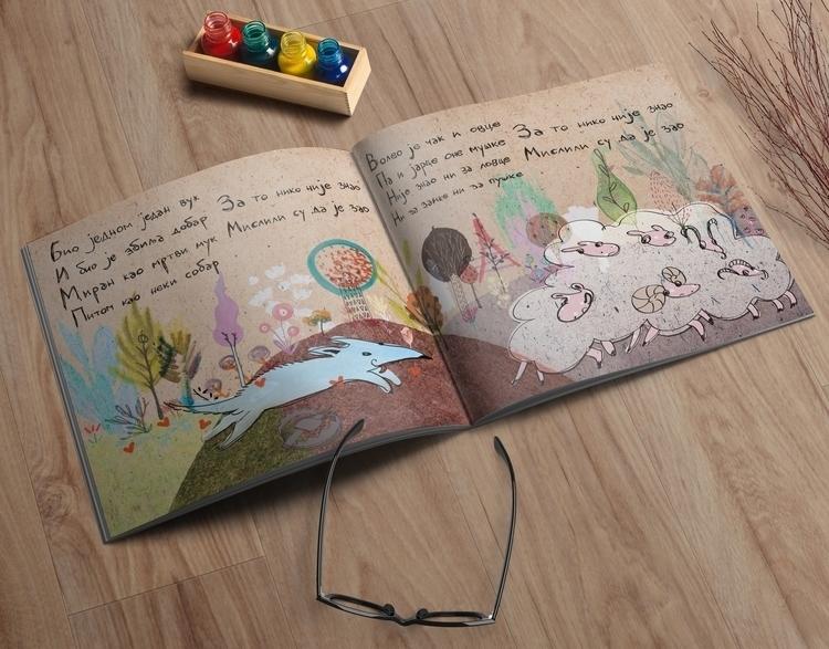 Illustration poem good, lonely  - tanjafea | ello
