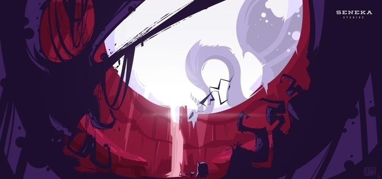 monster - seneka, dragon, environment - cajva | ello