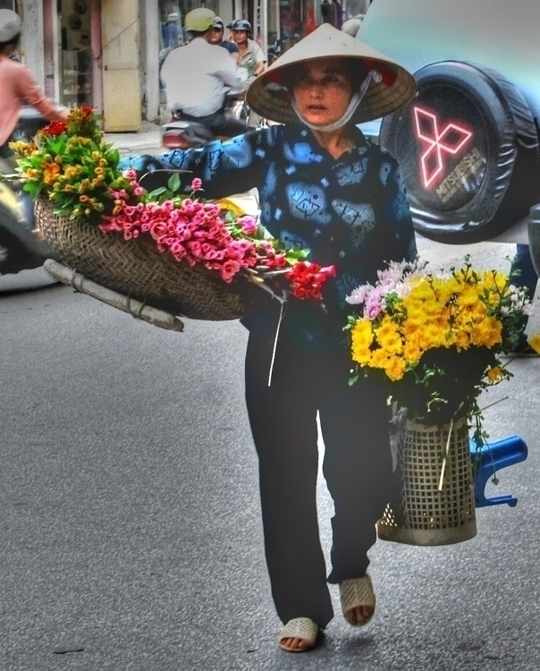 Vietnam Flower Seller II - photography - cmvanclevephotography | ello