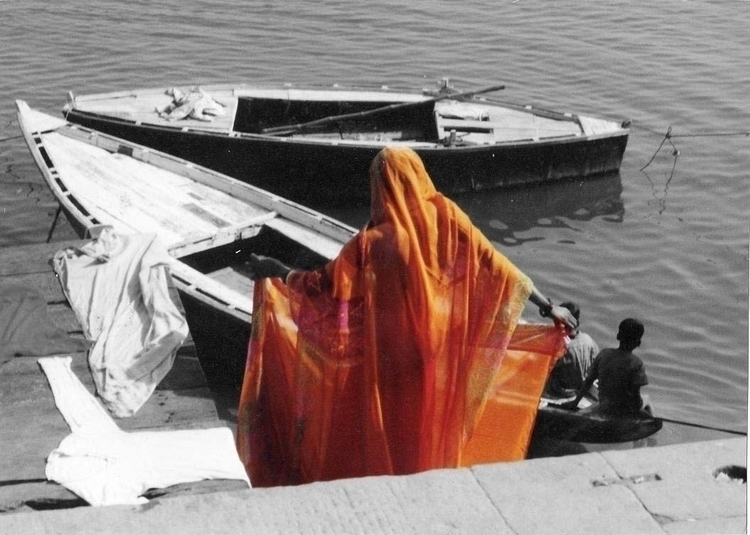 Orange Sari - india, blackandwhite - cmvanclevephotography | ello