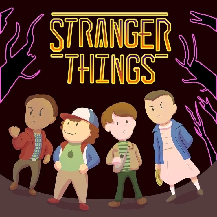 Strange Bound - strangerthings, earthbound - travisfowlerart | ello