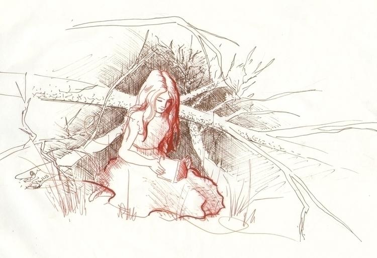 Quick sketch - illustration, drawing - emilygrobler | ello