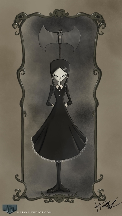 Wednesday Addams - fanart, addamsfamily - hasaniwalker | ello