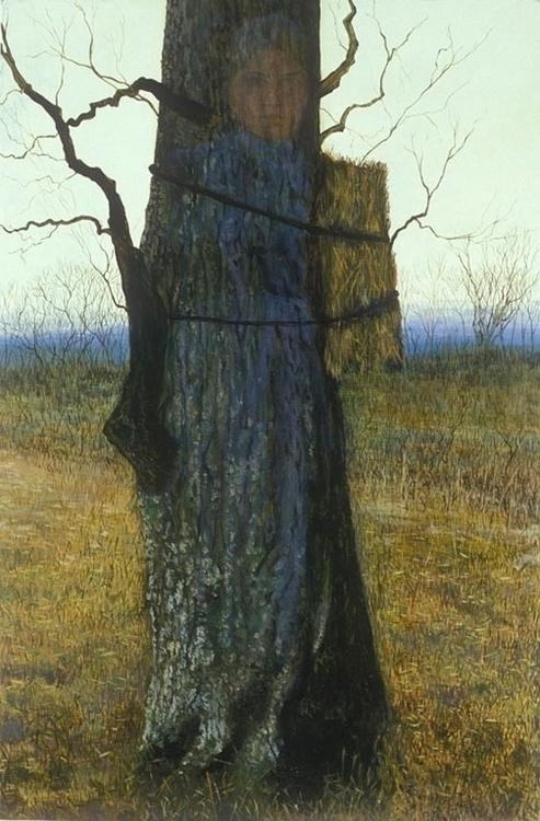 Tree Child, Oil Panel, 35 1/2 2 - bosborn | ello