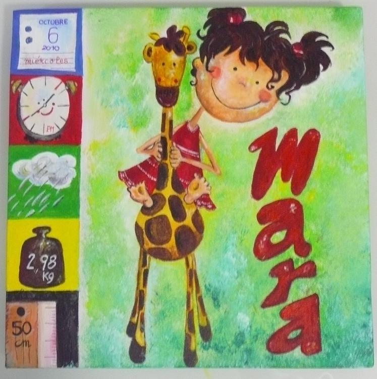 dearest niece Mara - painting - yucustomizedart | ello