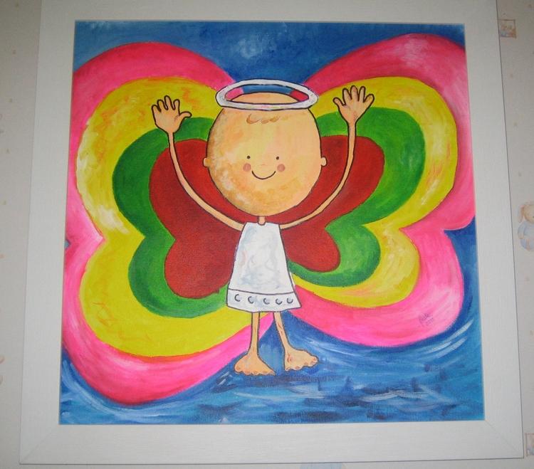 sweet nephew Angel - painting - yucustomizedart | ello