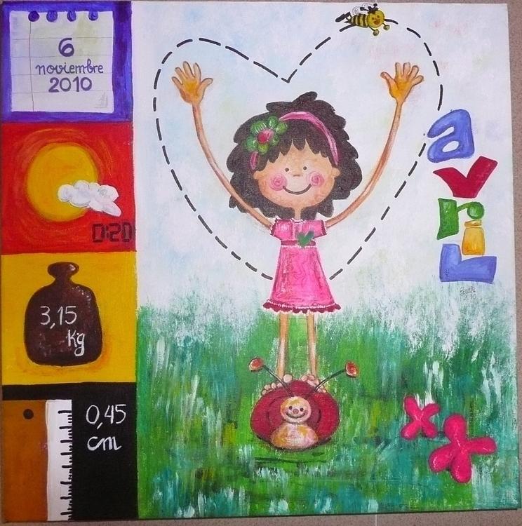 Painting born parents love Natu - yucustomizedart | ello