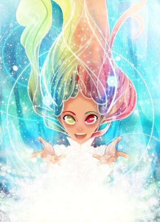 illustration, hmremi, girl, magical - hmremi | ello