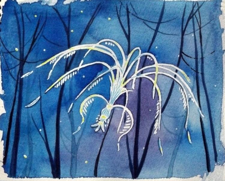 'Woodsprite'- watercolor acryli - izzywoolley | ello