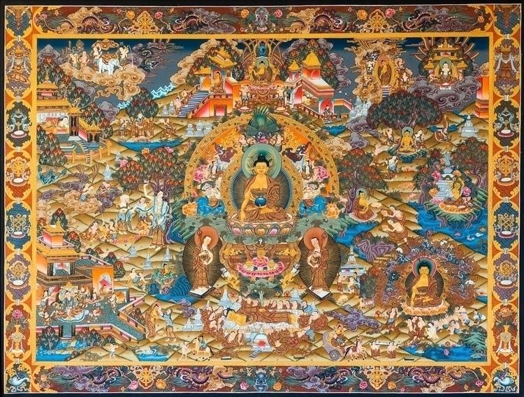Life Buddha Big Wide Thangka Pa - thangka_mandala | ello