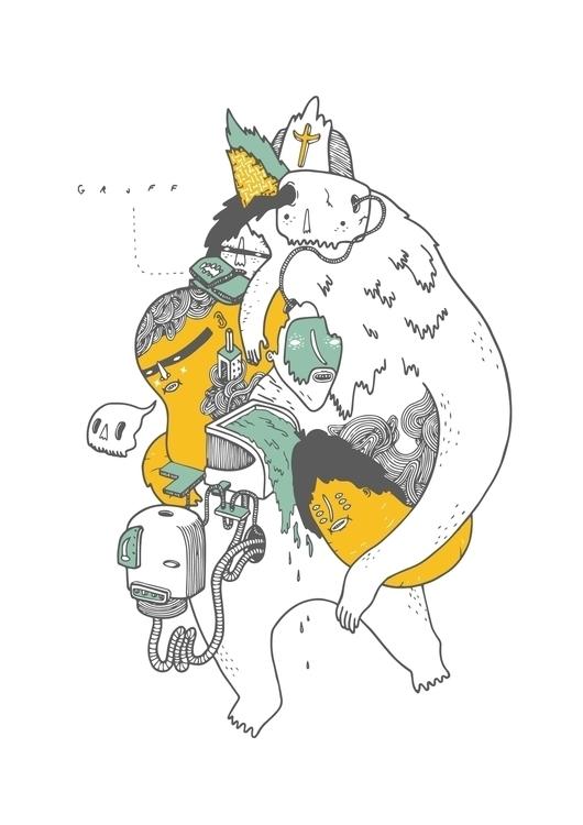 GRUFF ENTITY 2 - illustration, characterdesign - kimbogruff | ello