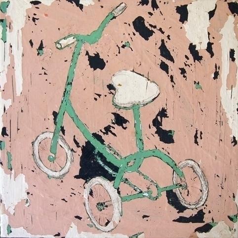 Bicykle,30cmx30cm, acrylic canv - mirindish | ello