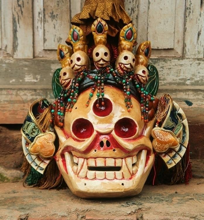 Skull Tibetan Mask (Citipati) H - thangka_mandala | ello