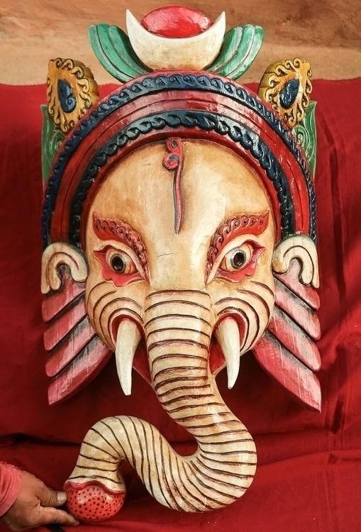 Ganesh wooden Mask - GaneshMask - thangka_mandala | ello