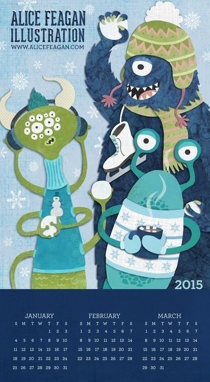 Snowliens, Winter Promo - children'sillustration - acfeagan | ello