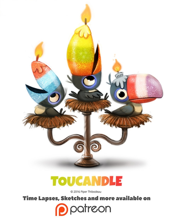 Day 1379. Toucandle - piperthibodeau | ello