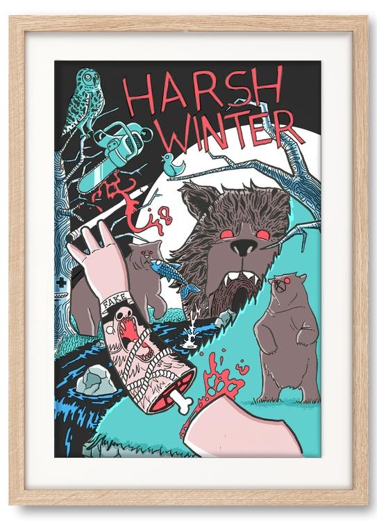 Harsh Winter - illustration, emanuele - emanuelem | ello