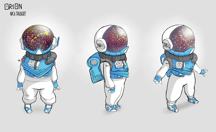 Work client - illustration, spaceman - nicktalbert | ello