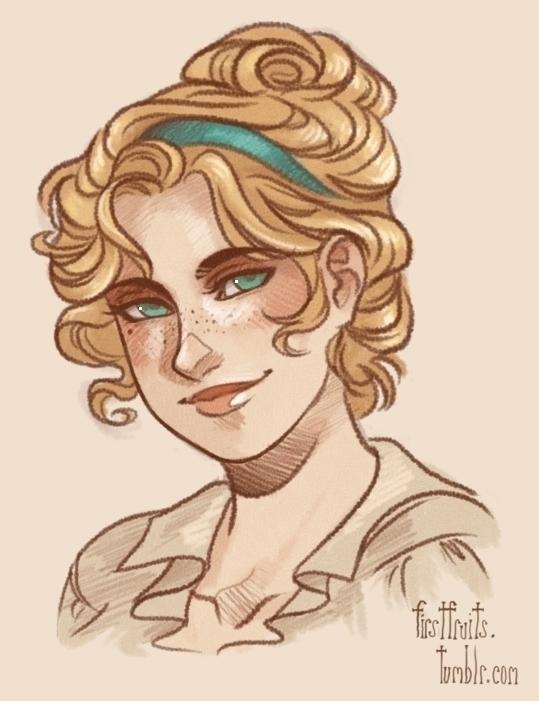 Gwendy - Gift - illustration, portrait - crystalcurtis | ello