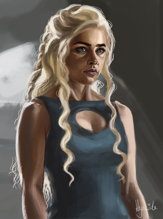 Daenerys - digitalart, digitalpainting - hyanide | ello