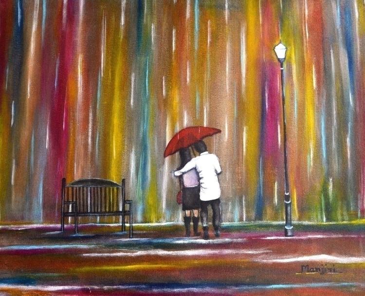 Love Rain Romantic painting cou - artbymanjiri   ello