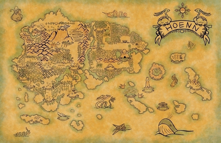 Hoenn - pokemon, hoenn, pokemonfanart - kayla_catherine | ello