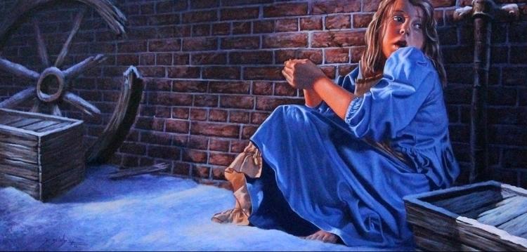 Match Girl - illustration, painting - dallynzundel | ello