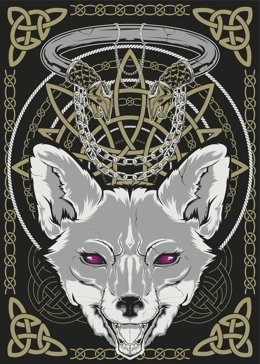 Poster series Nordic theme. Fox - deathisabadger | ello