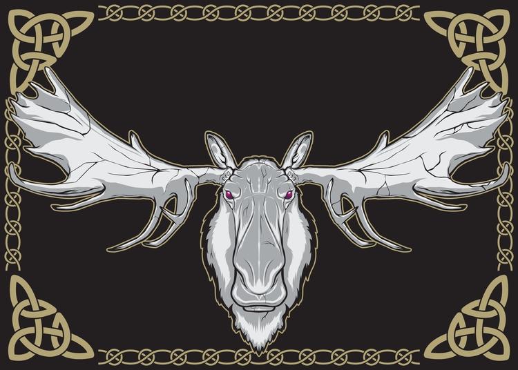 Poster series Nordic theme. Moo - deathisabadger | ello