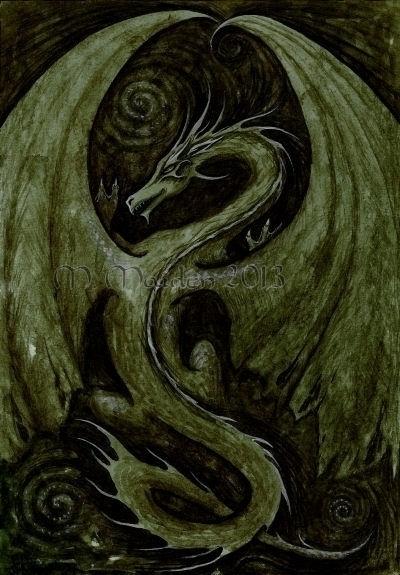 Earth Dragon, 2012, 9in 12in wa - mmaiden | ello
