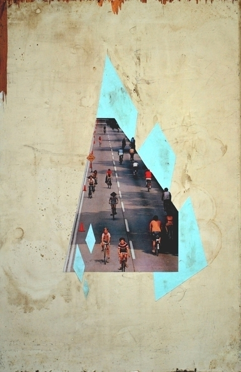 CYCLE PATH - collage, collageart - kimbogruff | ello