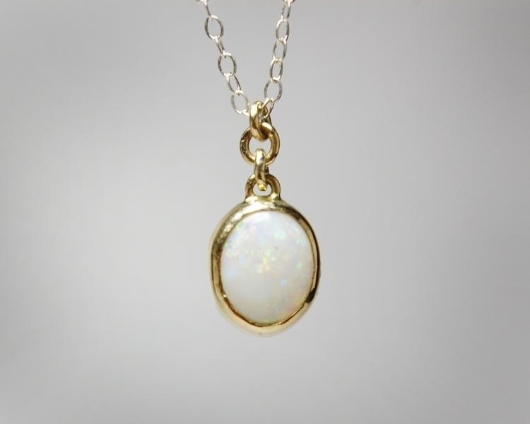 White Opal Set Solid 14k Gold S - tessbulman | ello