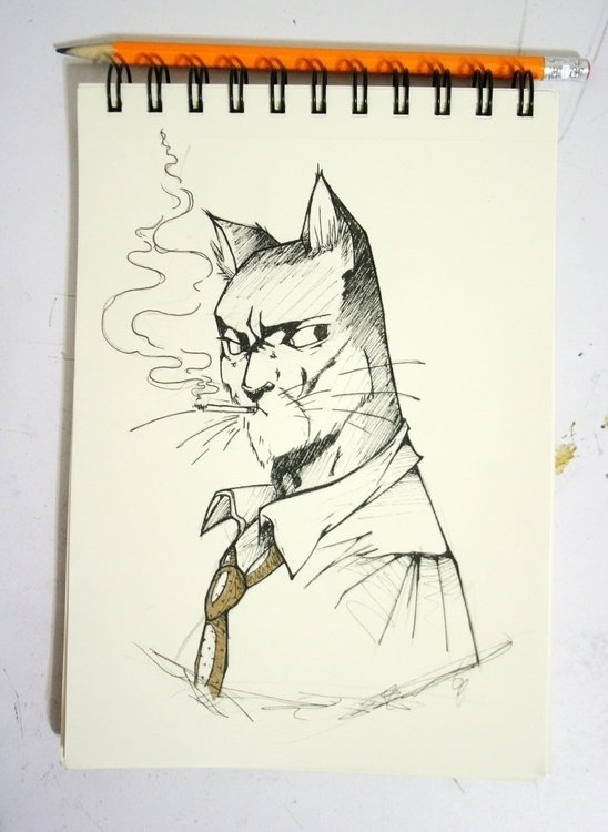 BlackSad - Ink - illustration, animation - serranov | ello