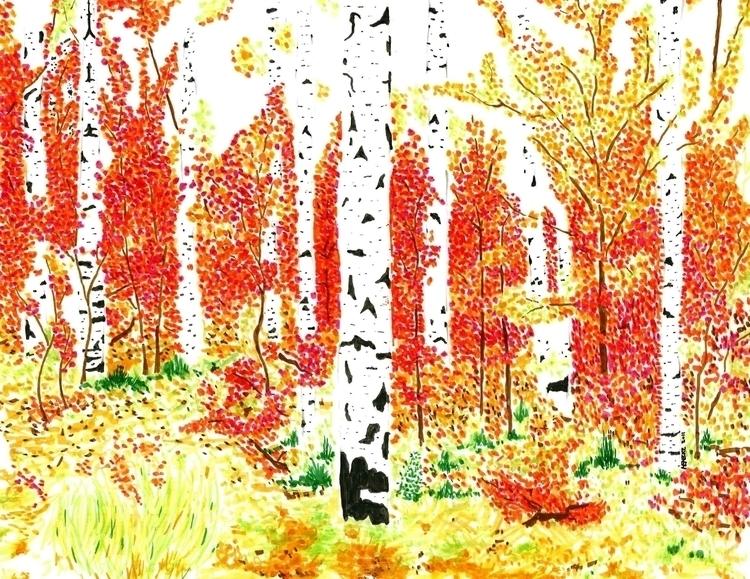 Fall Aspens - aspen, fall, autum - trybyk | ello