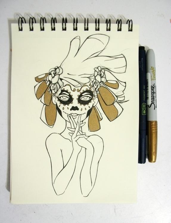Día de los Muertos - Golden Ink - serranov | ello