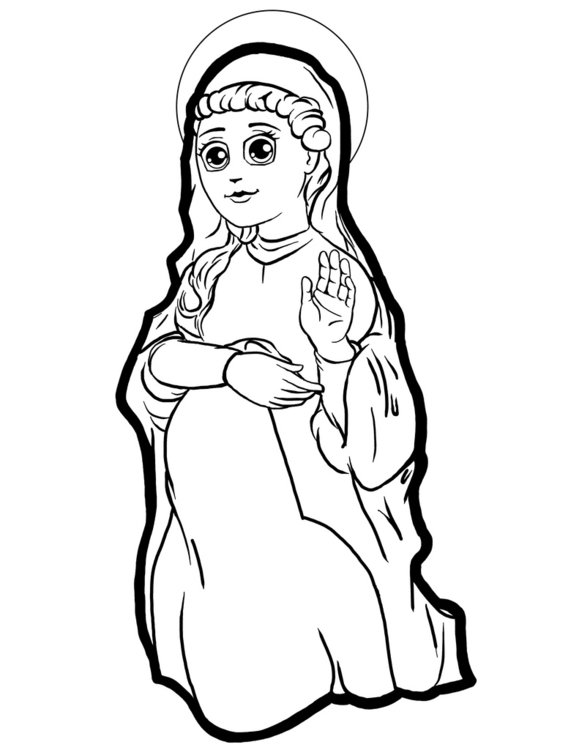 Virgen María - drawing, characterdesign - eddyg-1360 | ello