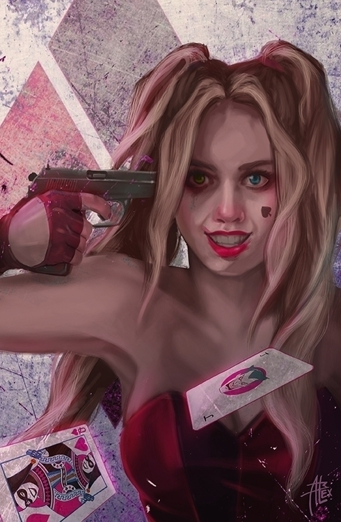 Harley Quinn - illustration, villains - alessandrabelgio | ello