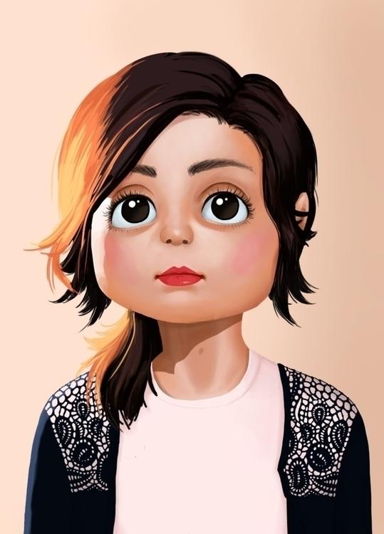 illustration, digitalart, selfportrait - joanacoelho | ello