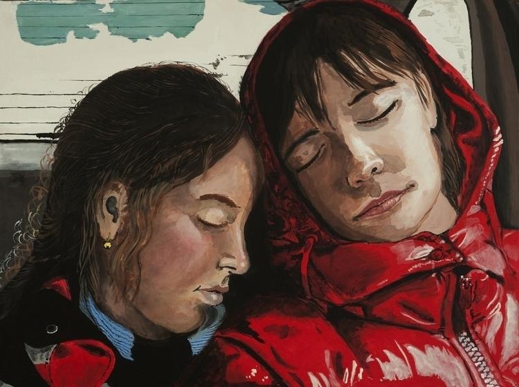 Sisters - painting, sleep, sisters - jlebedev | ello